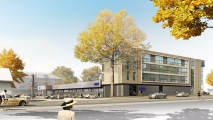 <p>Neubau eines Aldi-Marktes und Wohnhauses Langenhorner Chaussee 579 22419 Hamburg</p>