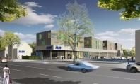 <p>Entwurf - Neubau eines SB-Marktes und 24 Wohneinheiten Bargteheider Str. 32-36 22143 Hamburg</p>